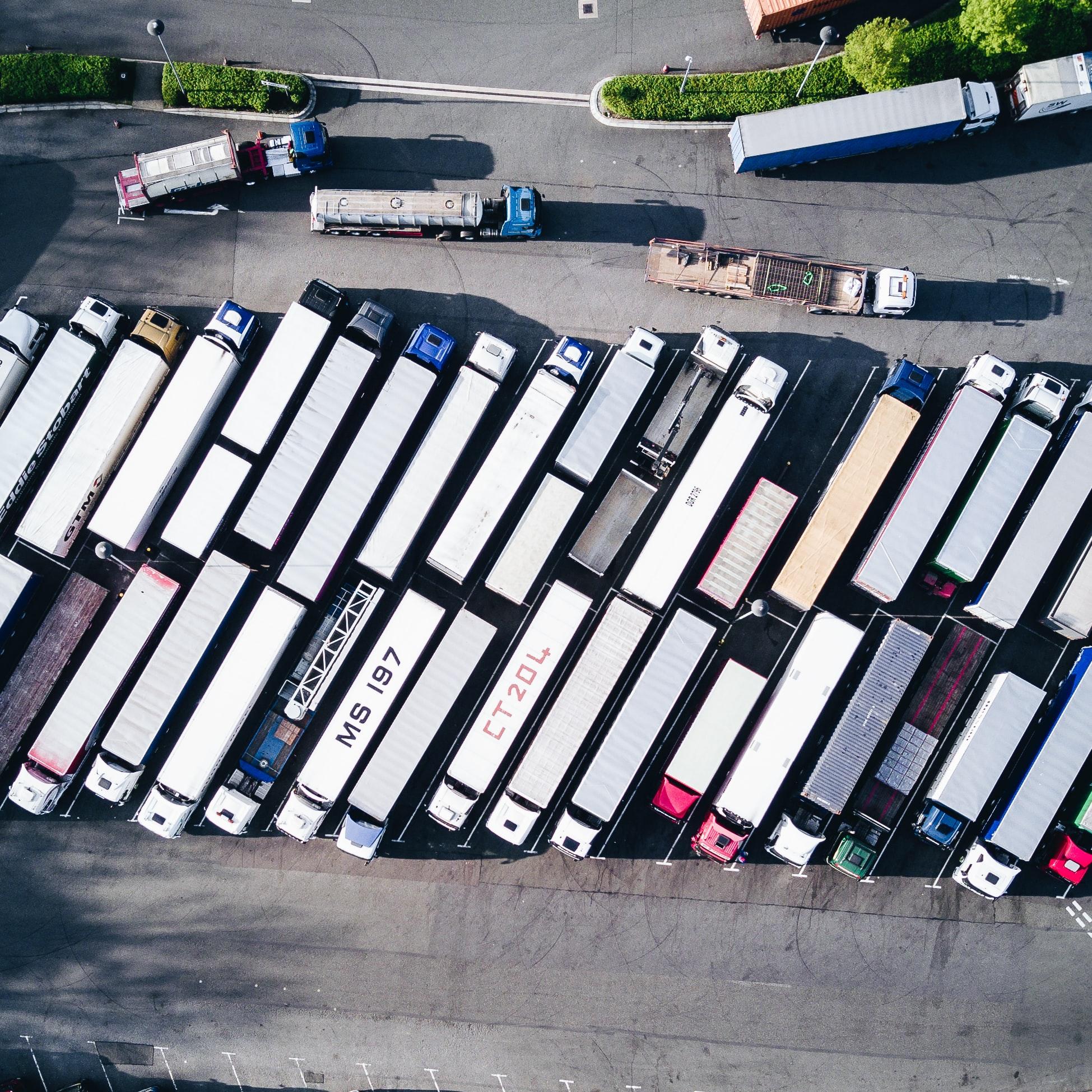 géolocalisation de la flotte de camions